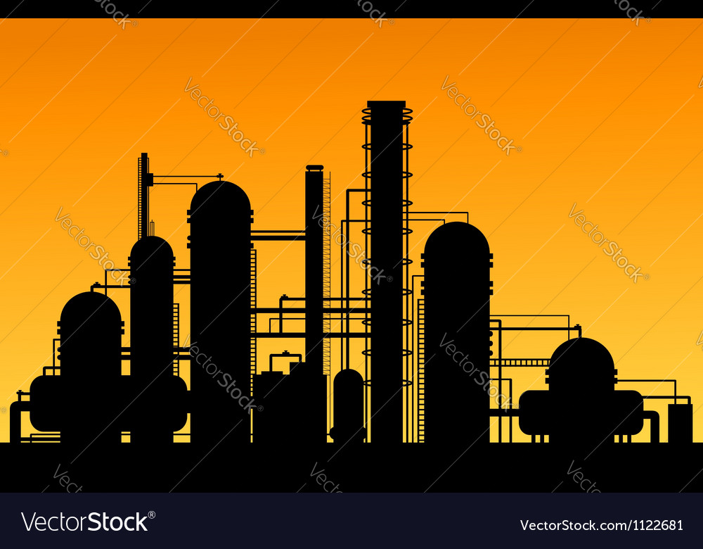 Chemical factory vector