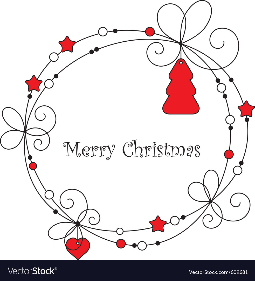Christmas frame vector by Oppositus - Image #602681 - VectorStock Vintage Border Vector