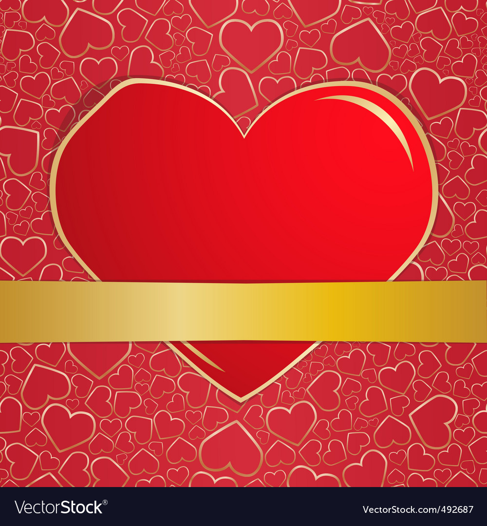 Invitation card on wedding eps10 vector