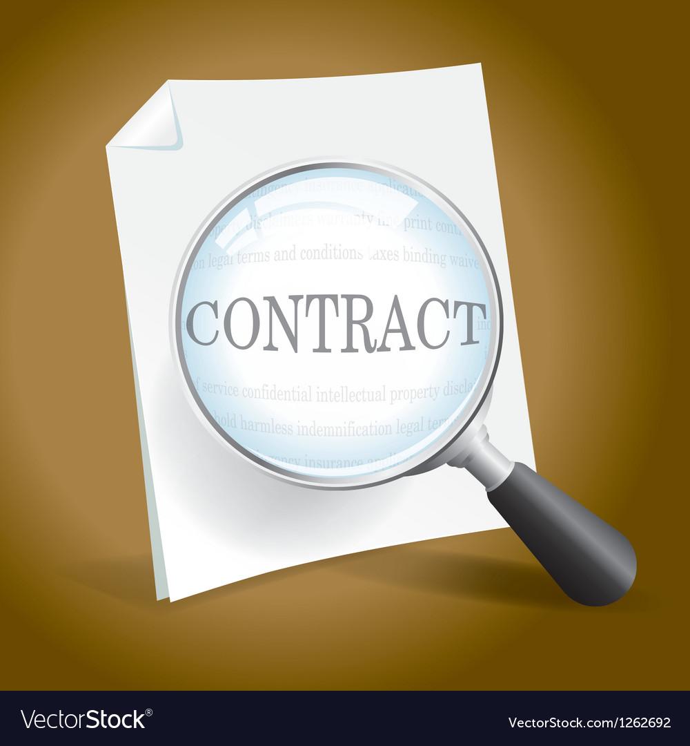 Examining a contract vector