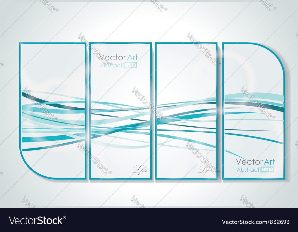 Gallery interior with abstract pictures vector