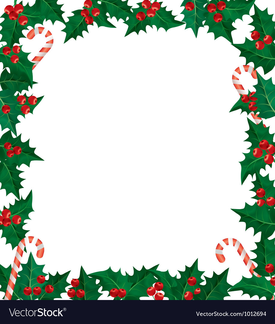 christmas holly borders and frames