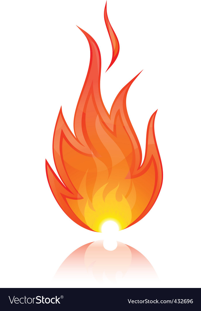 illustration of fire vector