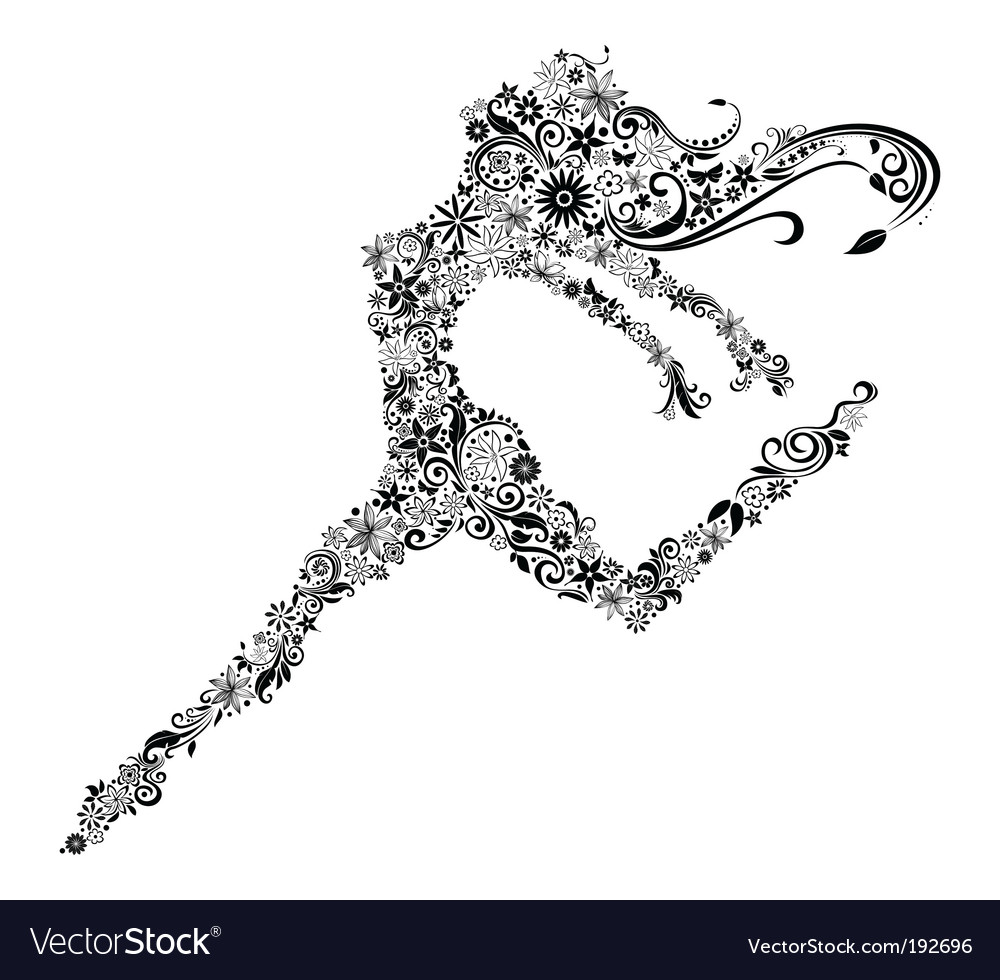 Woman in jump vector