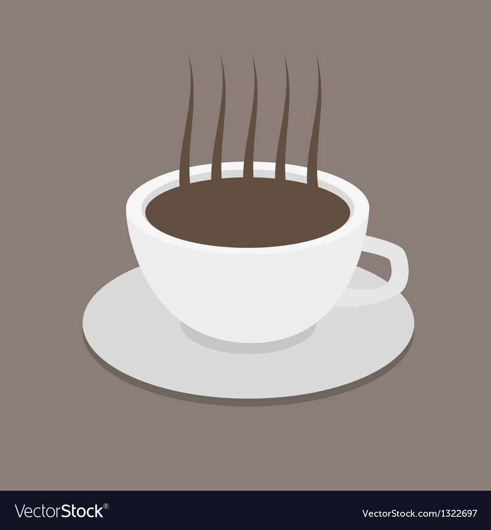 Cup of coffee with coffee grain photo-realistic vector