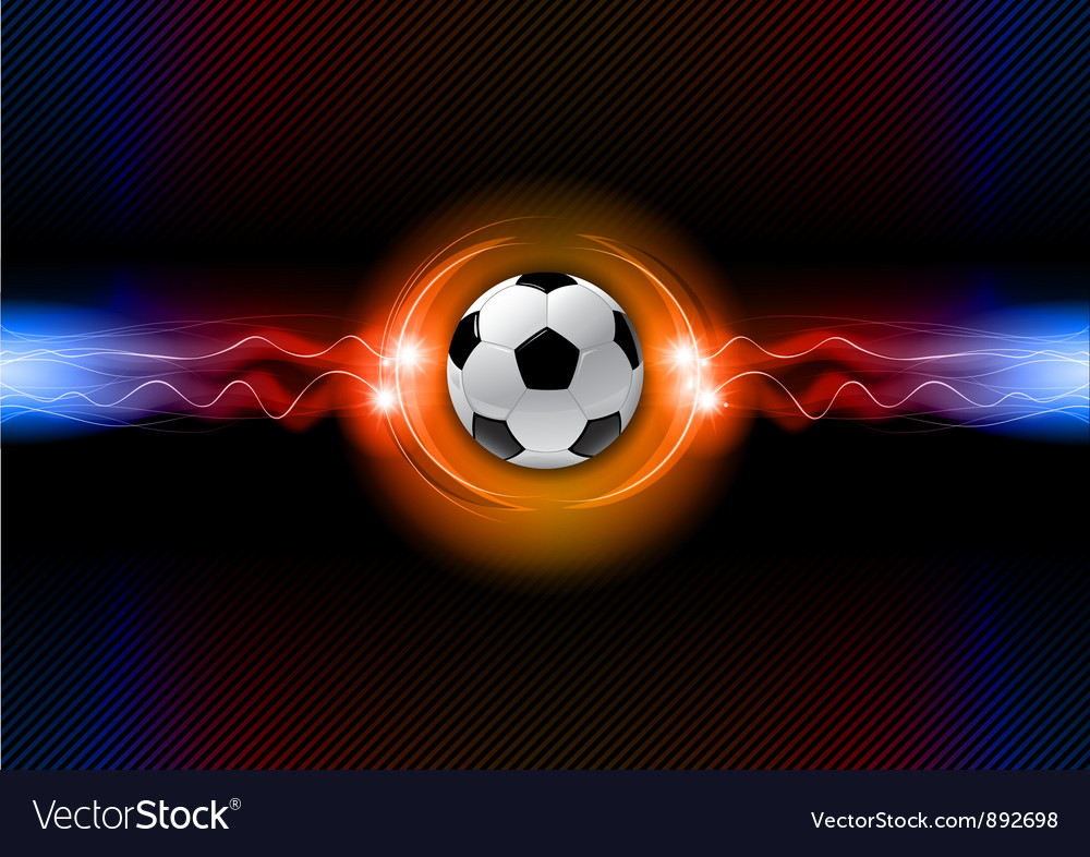 Football electric dark orange vector