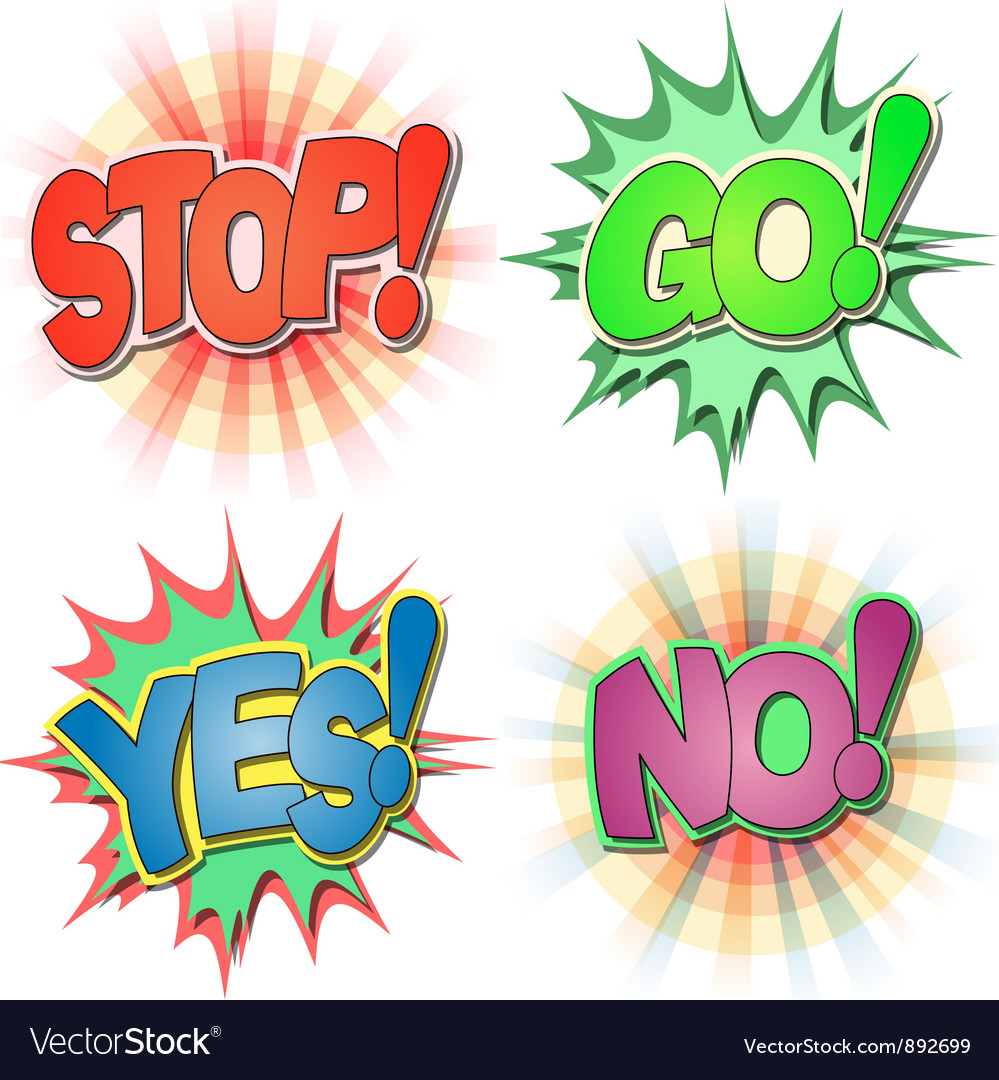 Comic book exclamations vector