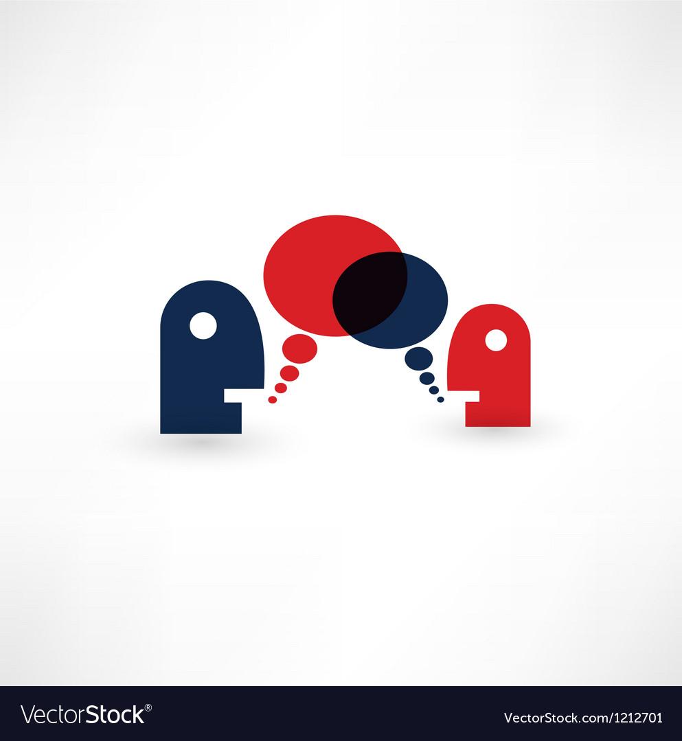Dialog speech bubbles vector