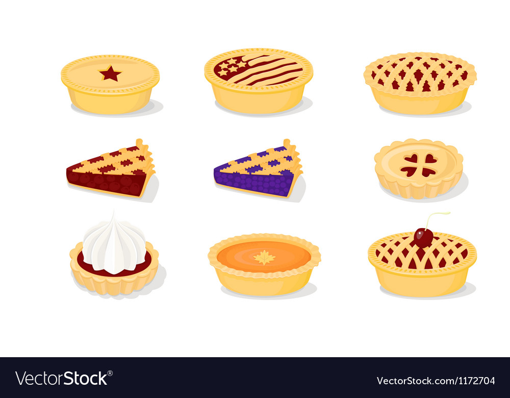 Pies and tarts vector