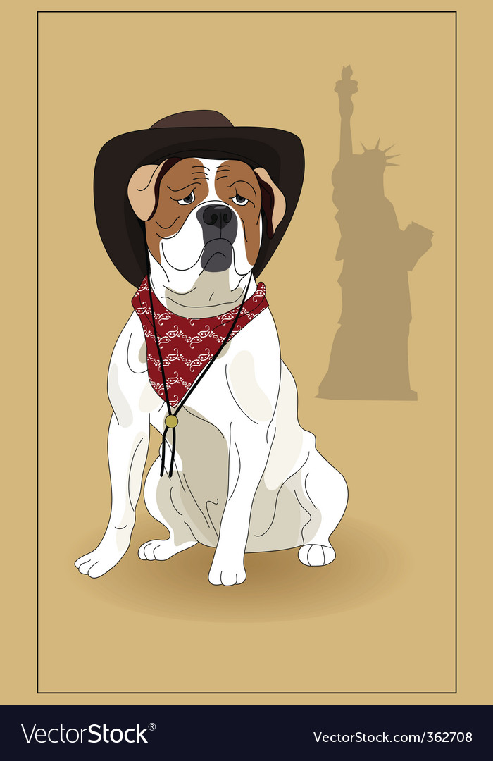 American bulldog vector - photo#6