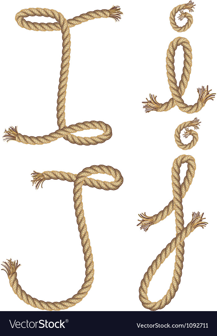 Rope alphabet vector