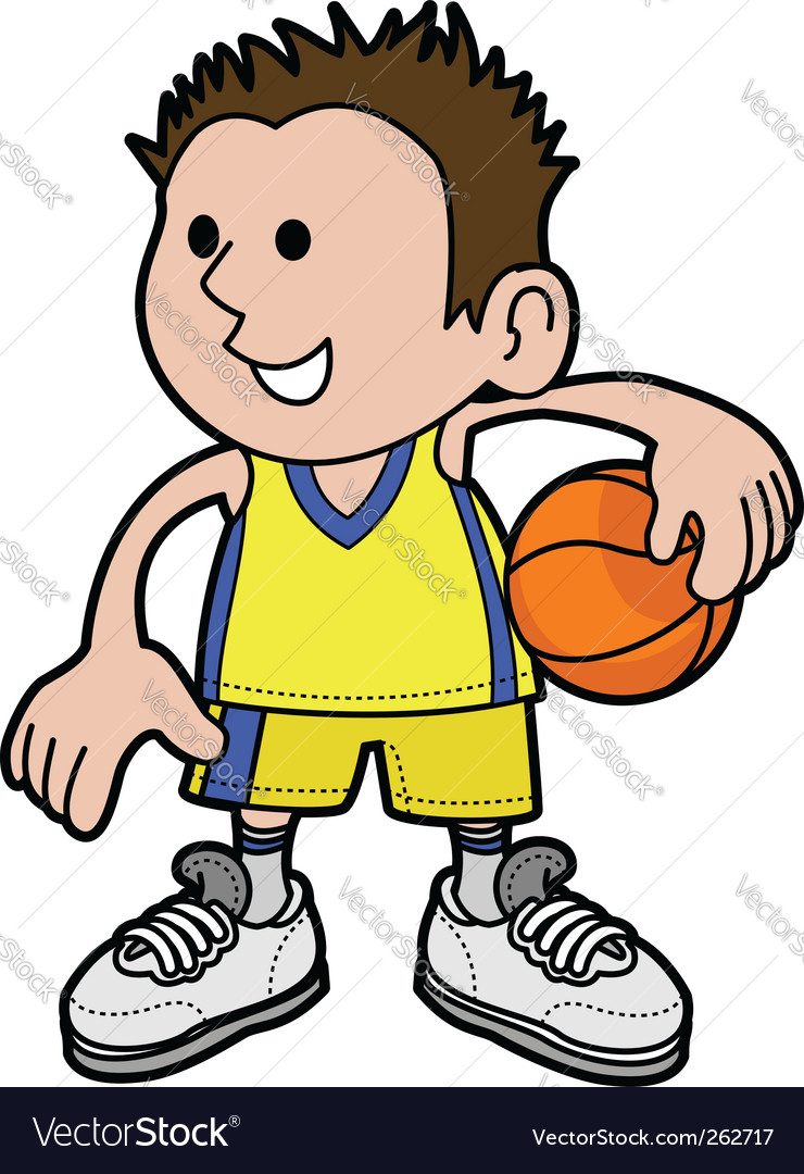 Cartoon basketball player vector