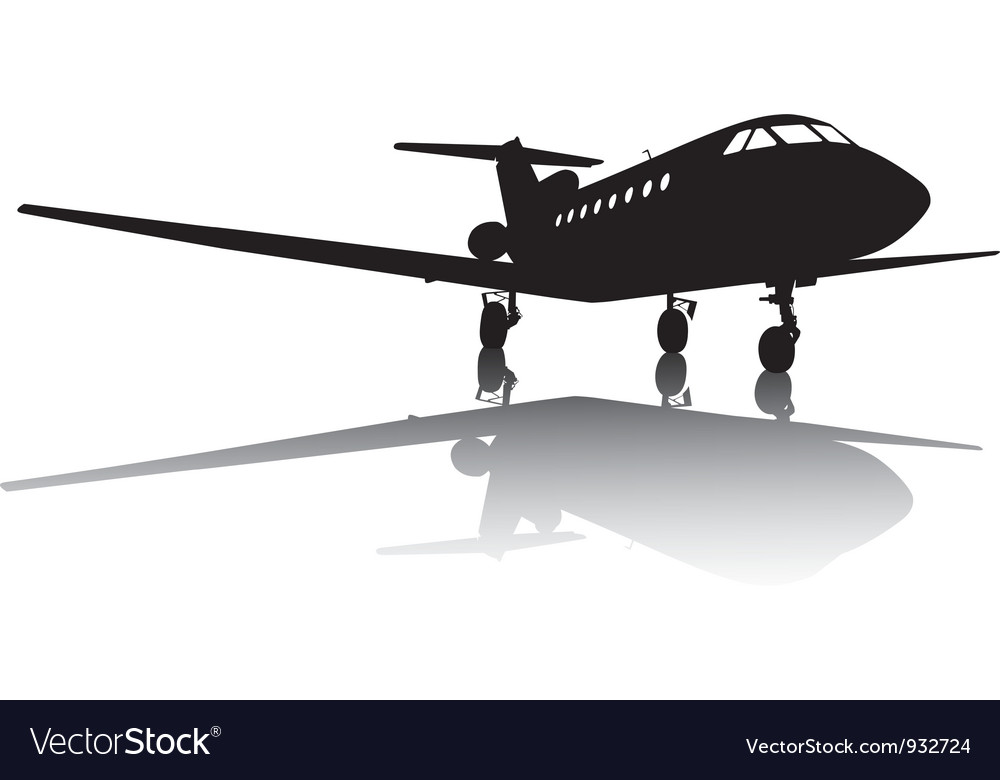 Aircraft silhouette vector