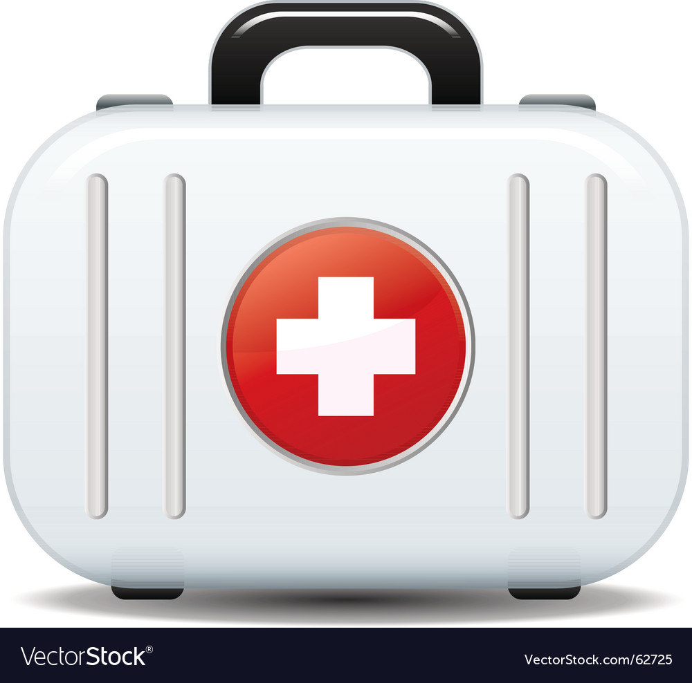 First aid box vector
