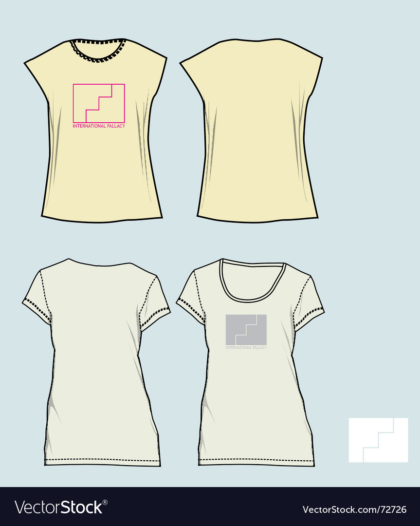 Free girl tees vector
