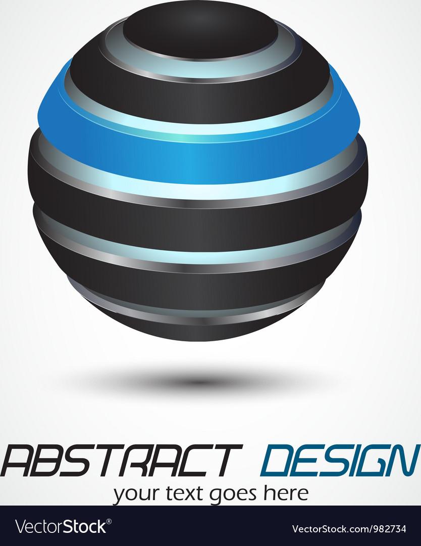 Metal sphere vector