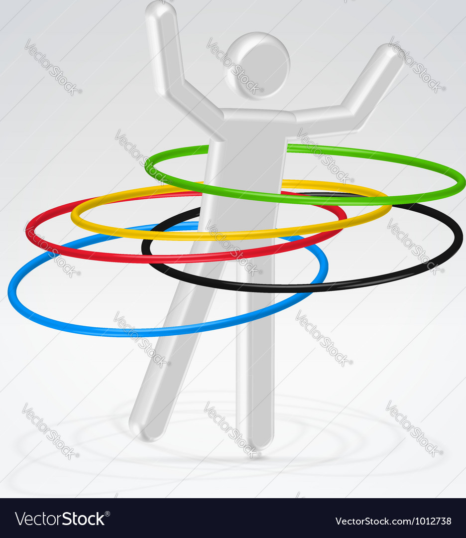 Person rotating rings vector