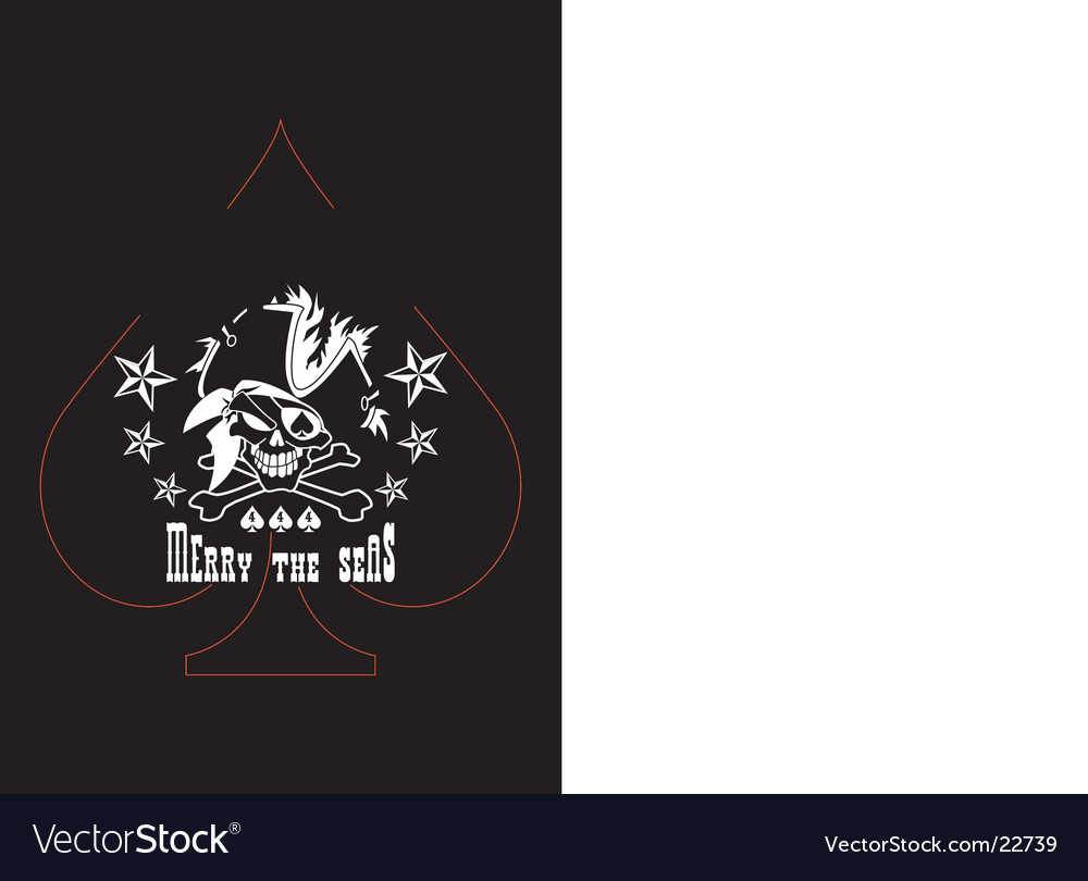 pirate skull t-shirt logo vector