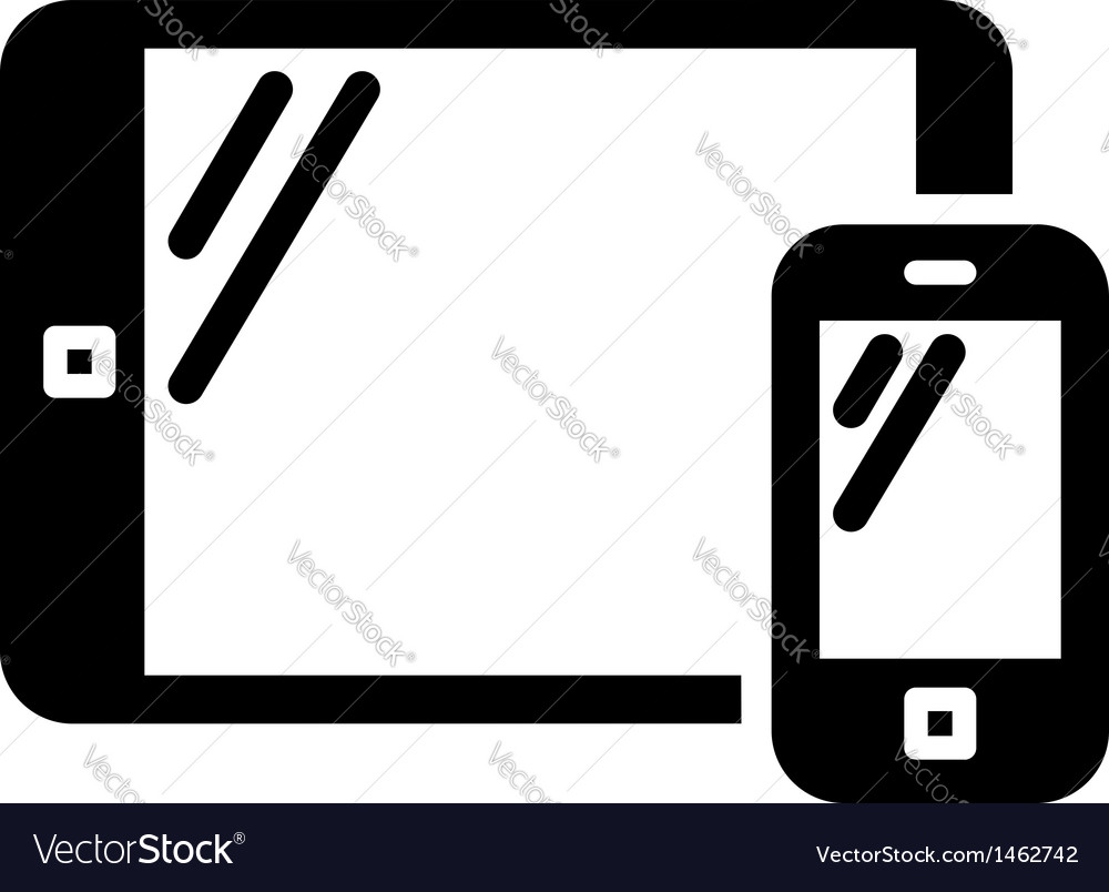 Mobile phone and tablet sign vector