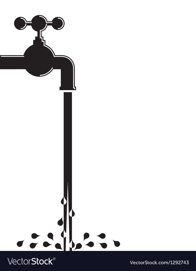 Water pipe vector