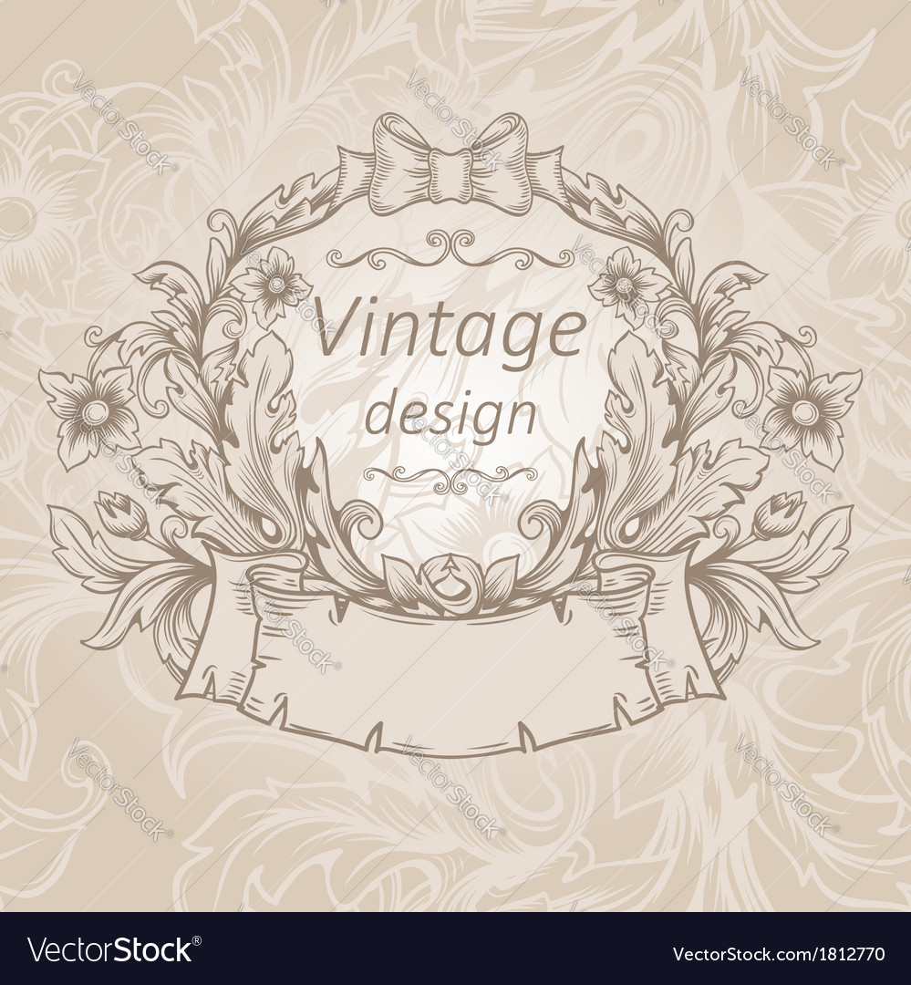 Retro vintage emblem vector