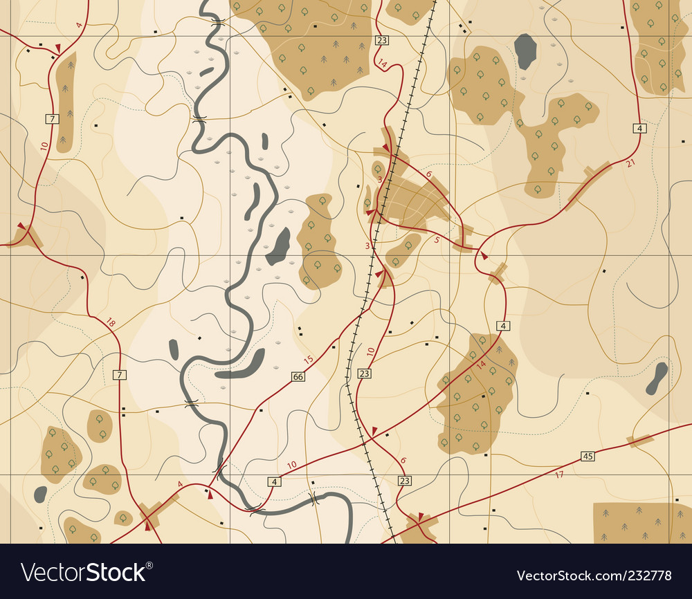 Generic road map vector
