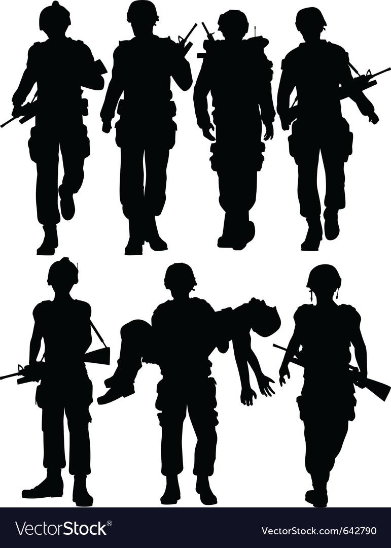 Soldiers vector