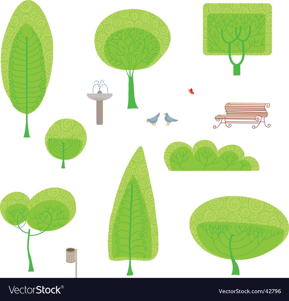 Park set vector