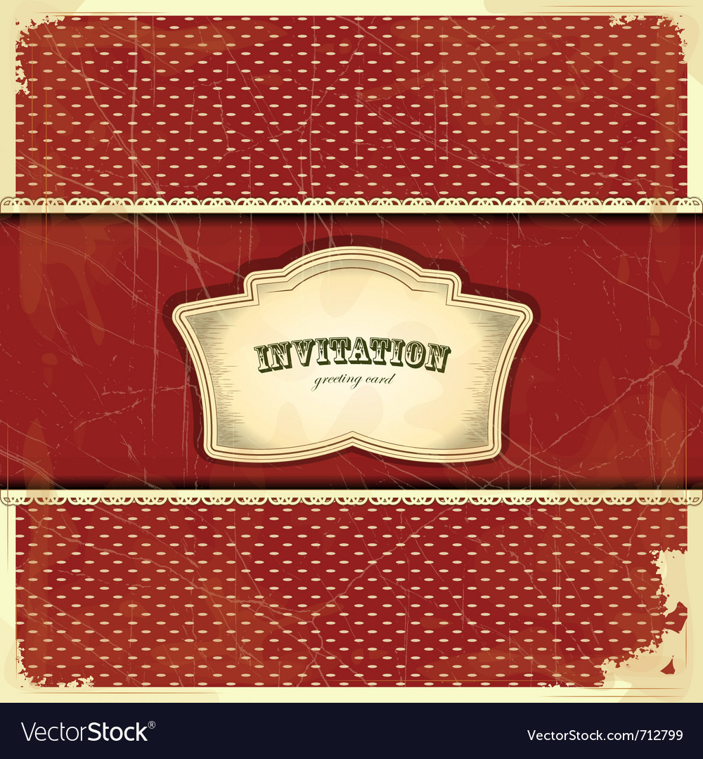 Vintage card with place for text - scrapbook style vector
