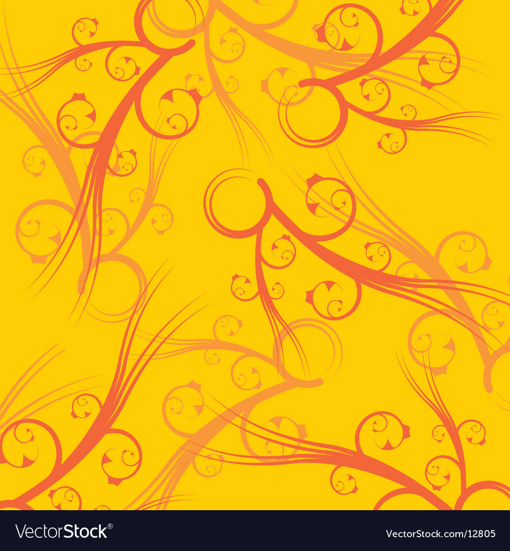 Yellow square background vector