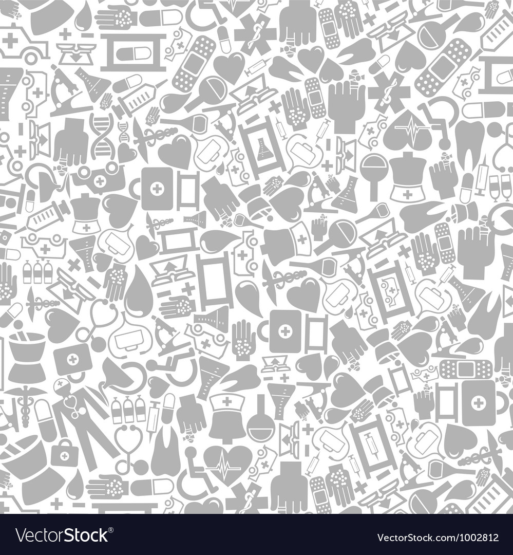 Medical icons background vector