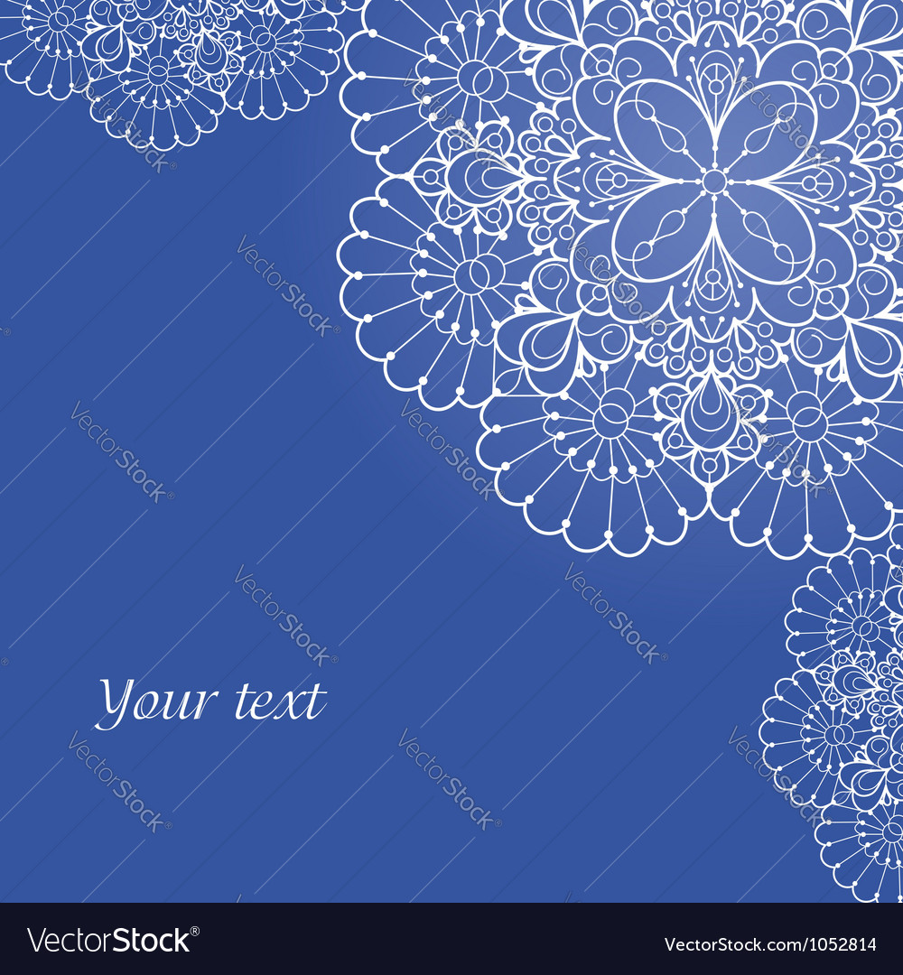 Background with lace ornament and space for your vector