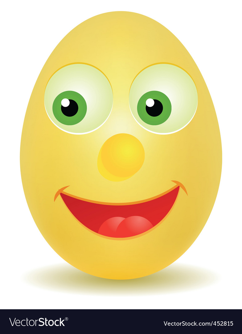 Egg with happy face vector