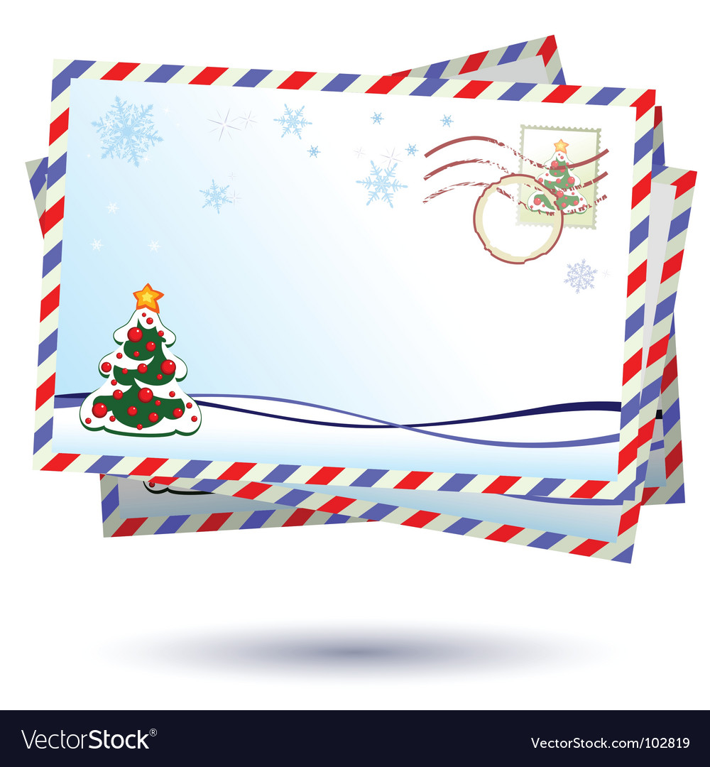 Christmas letter vector by -Aqua- - Image #102819 - VectorStock
