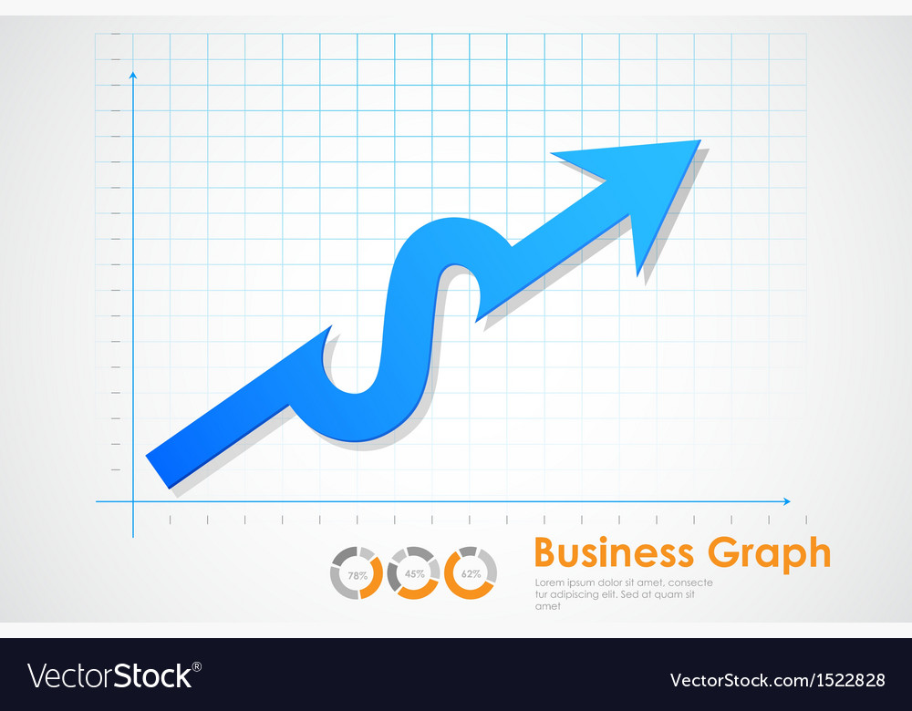 Business profit graph vector