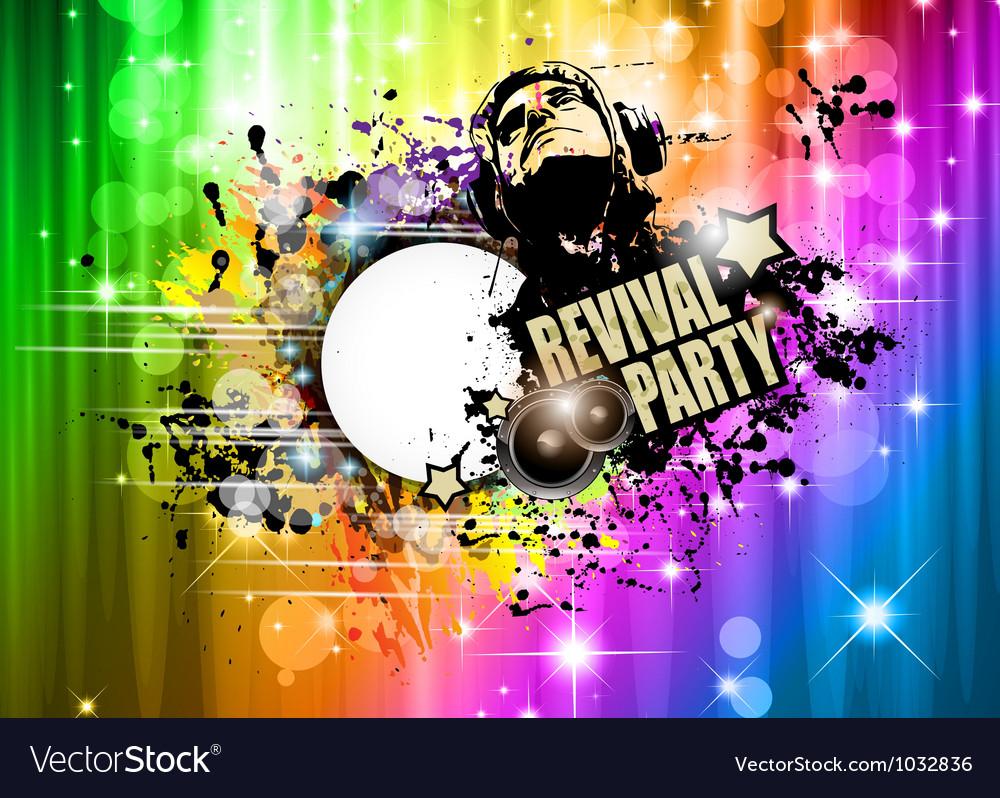 Abstract disco club flyer vector
