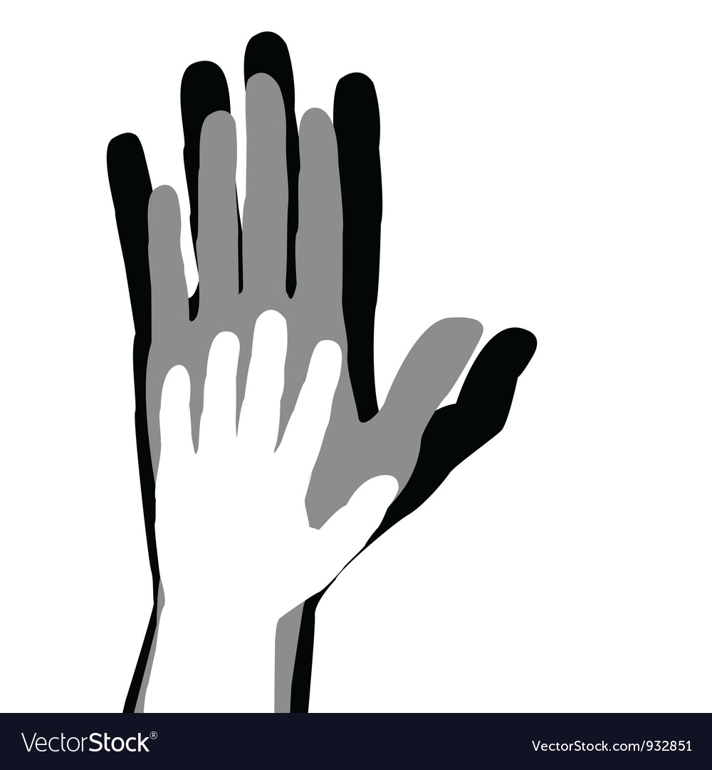 Hands silhouettes vector
