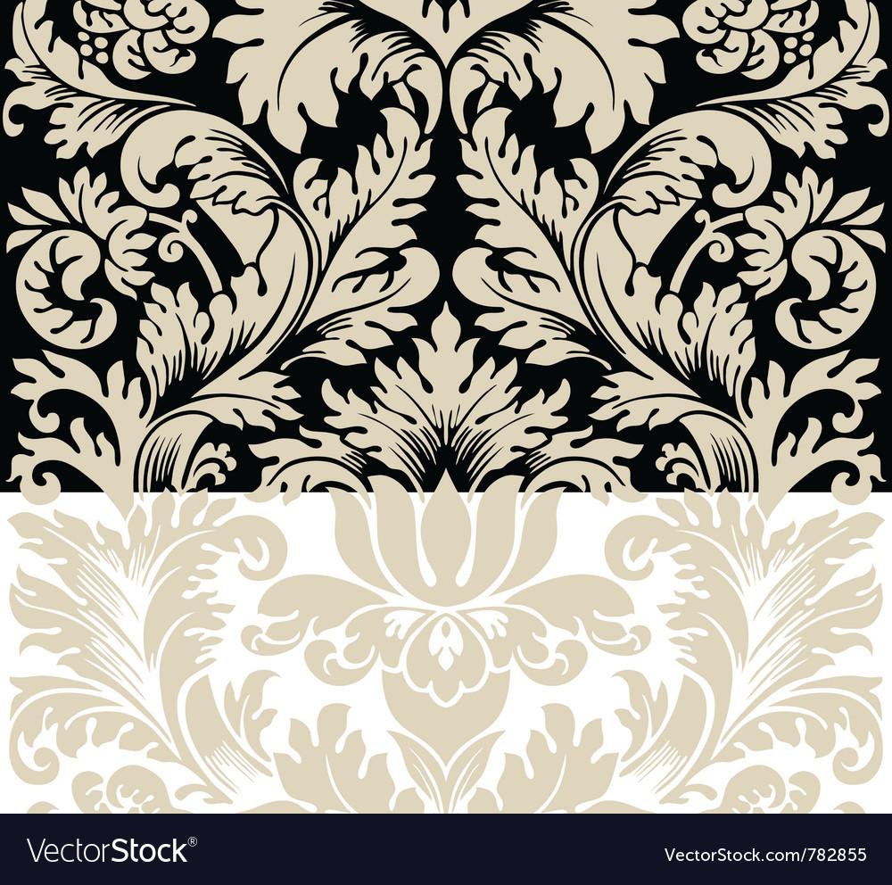Damask semless silk vector