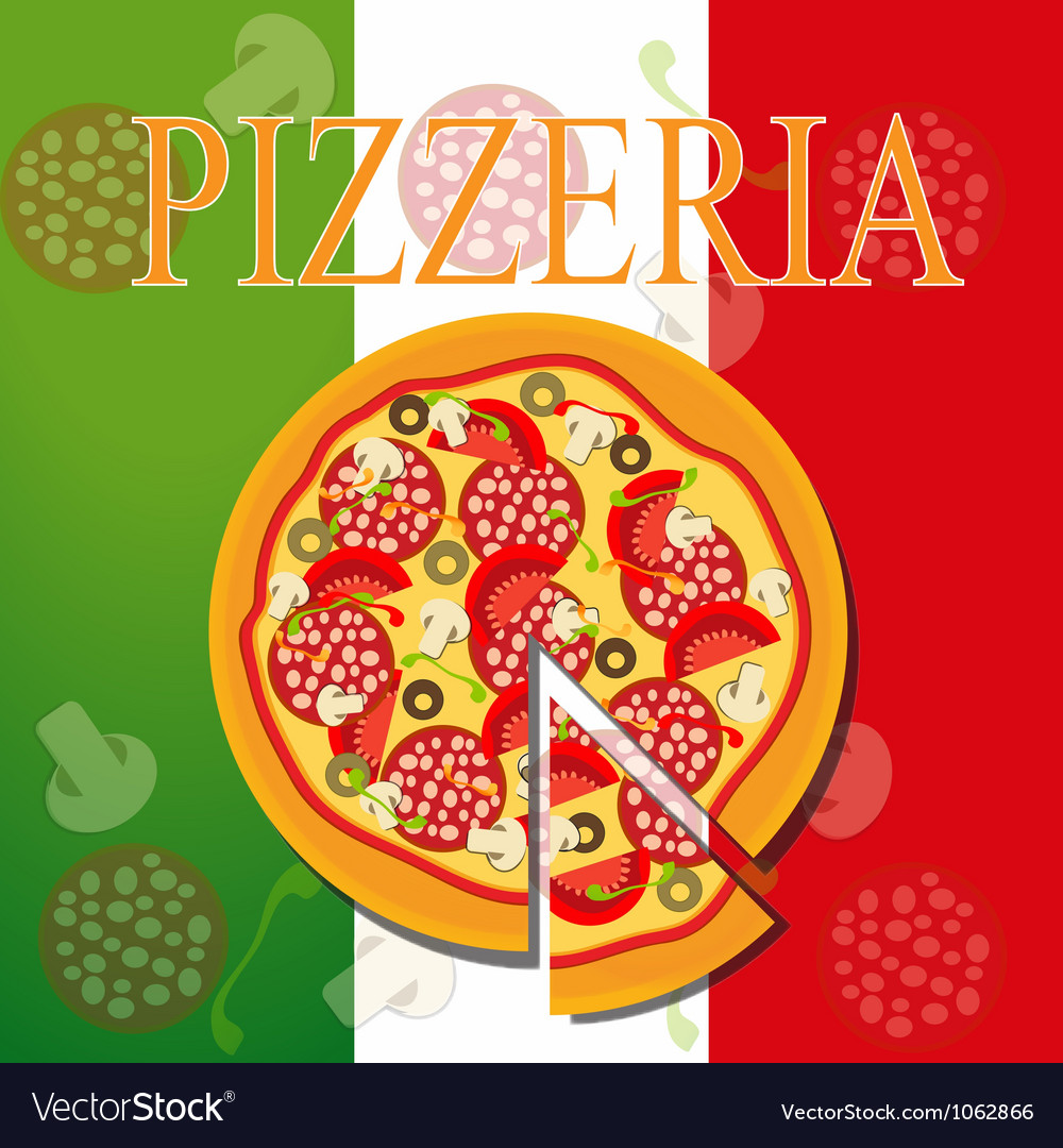 Pizza menu template vector