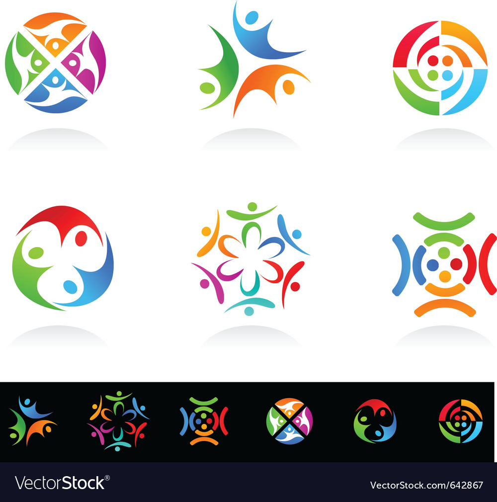 Collection of social media vector