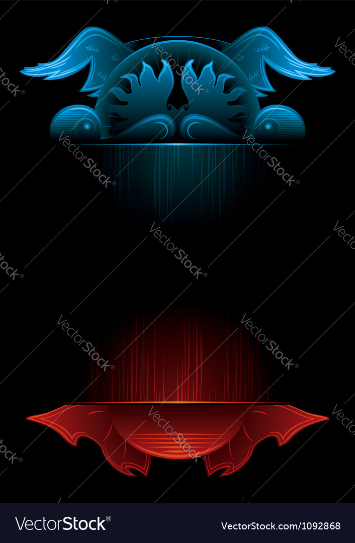 Gothic background vector