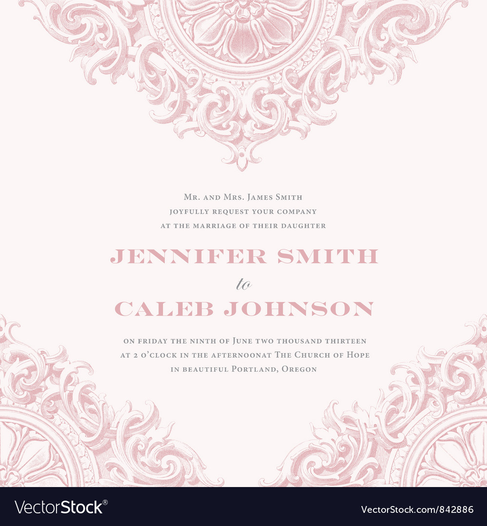 Wedding invitation templates vector