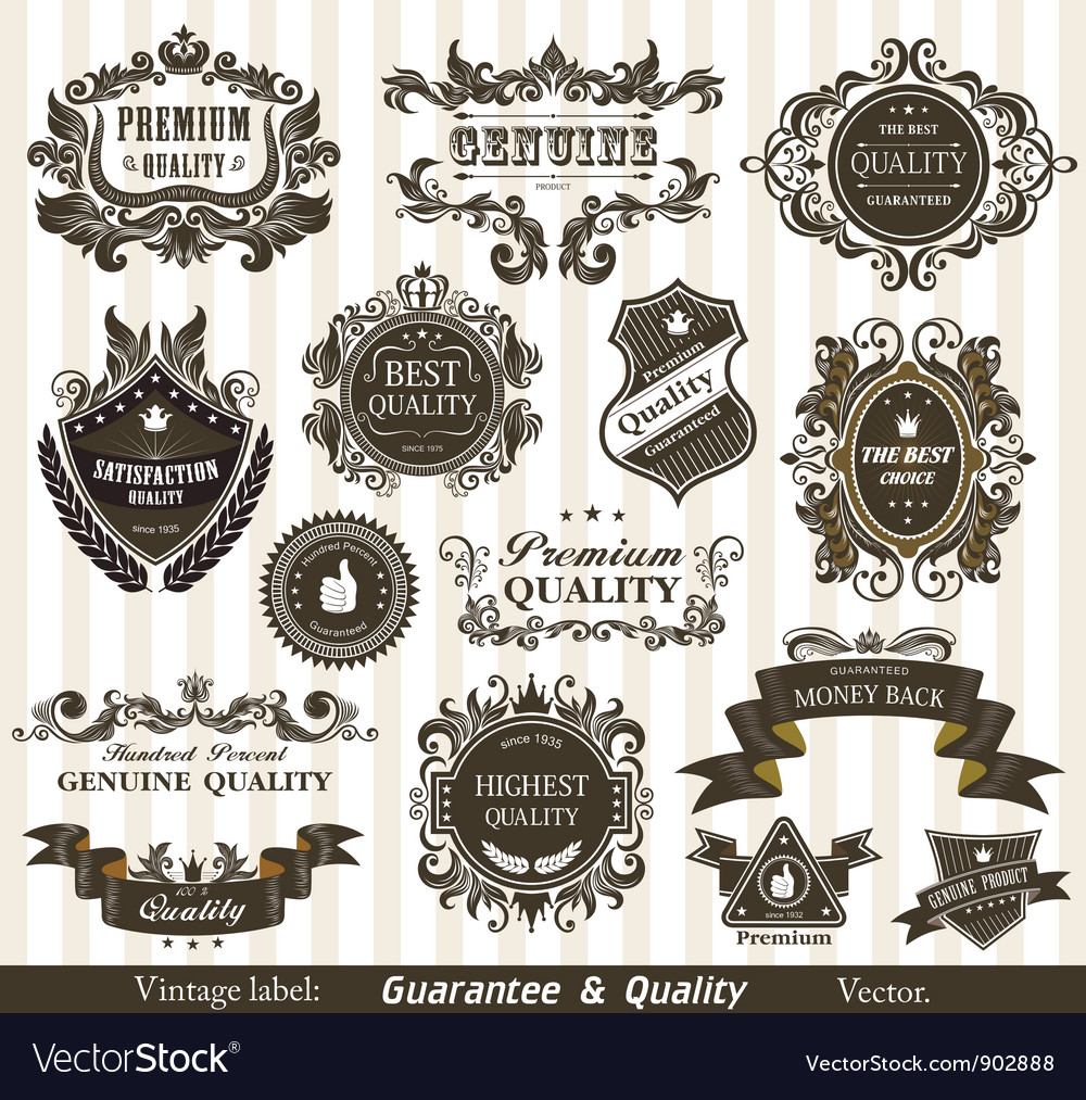 Vintage styled labels vector