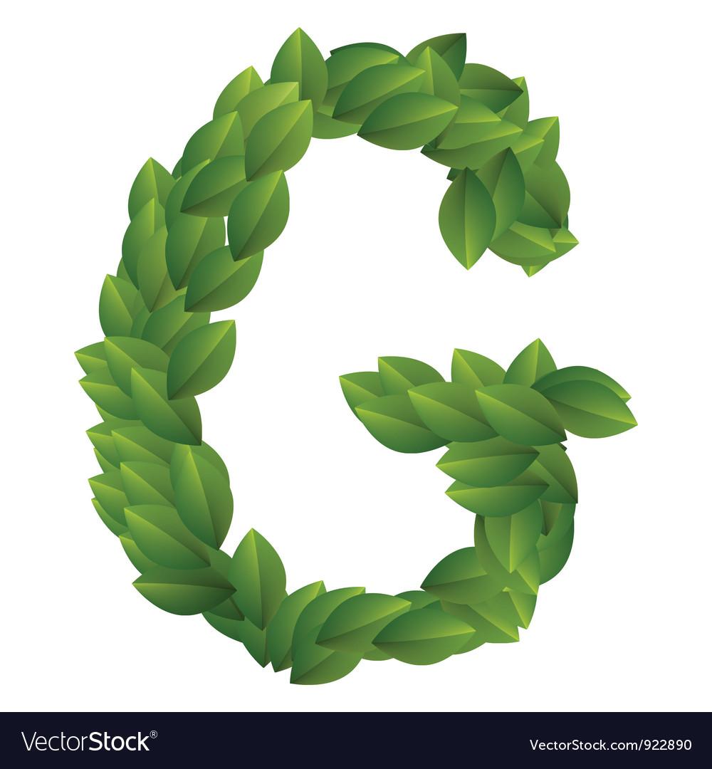 Letter g of green leaves  G Logo Vector Free Download