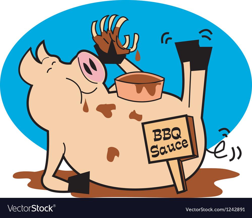 Bbq pork sauce vector