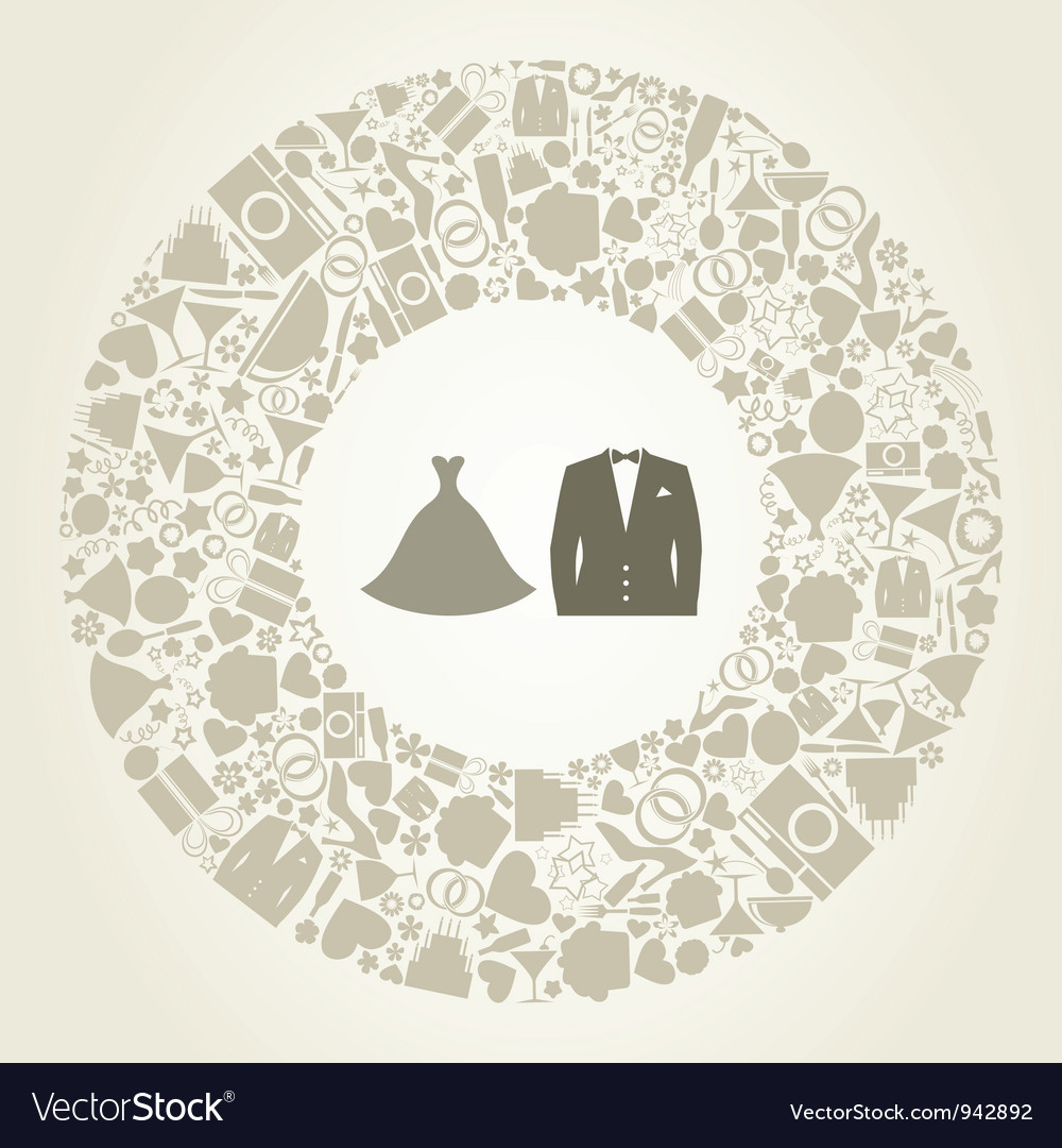 Wedding suit vector