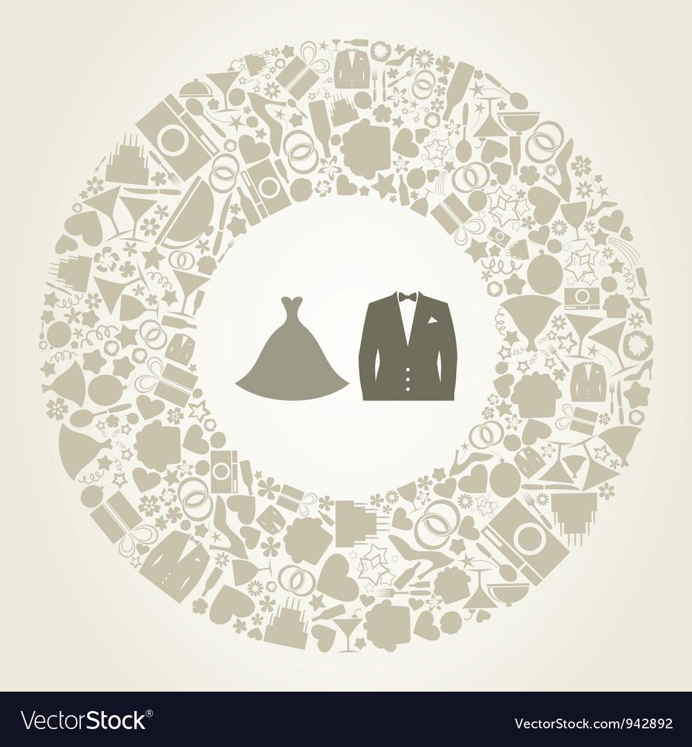Wedding suit vector
