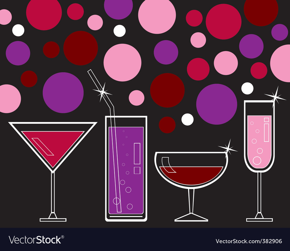 Drinks and juice vector