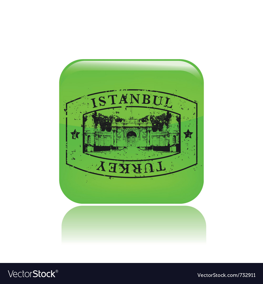 Turkey print icon vector