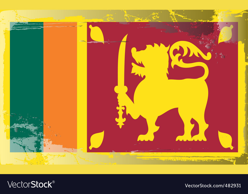 Sri lanka national flag vector